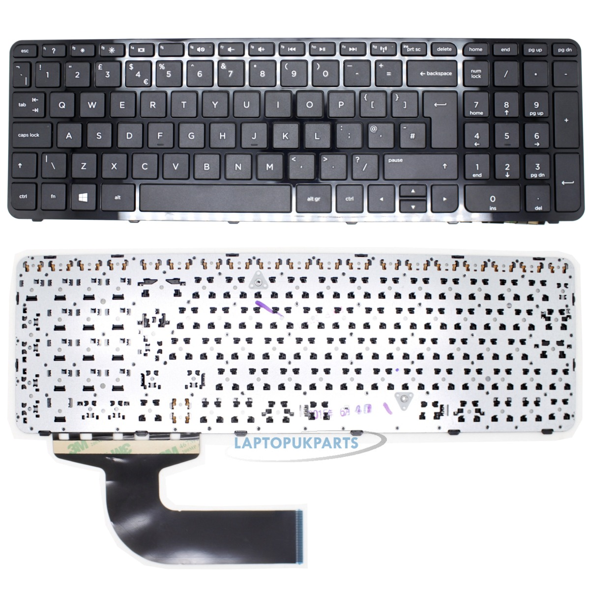 US Layout Black Color New Laptop Keyboard with Frame Replacement for HP Compaq 15-f 15-h 15-s Series